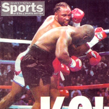 Lennox Lewis on Sports Illustrated magazine cover