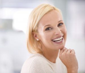 Woman with an attractive smile