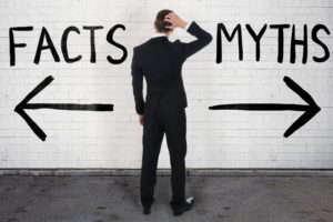 man discerning myths and facts about cosmetic dentistry